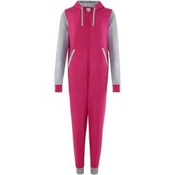 Vêtements Combinaisons / Salopettes Comfy Co CC003 Rose/Gris chiné