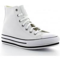 Chaussures Fille Baskets montantes Converse CTAS PLATFORM EVA HI 666392C blanco blanc