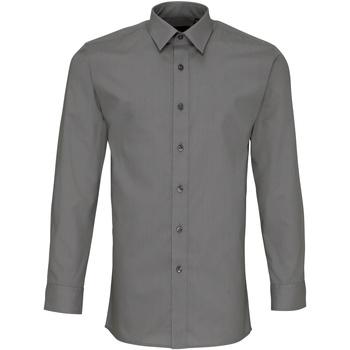 Vêtements Homme Chemises manches longues Premier PR204 Gris foncé