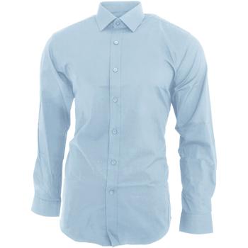 Vêtements Homme Chemises manches longues Brook Taverner  Bleu ciel