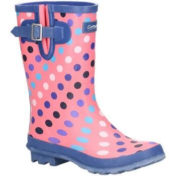 Chaussures Femme Bottes de pluie Cotswold  Rose / Multicolore