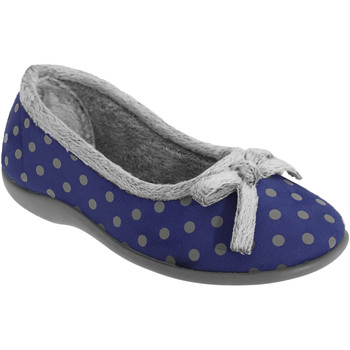 Chaussures Femme Chaussons Sleepers Polka Bleu marine