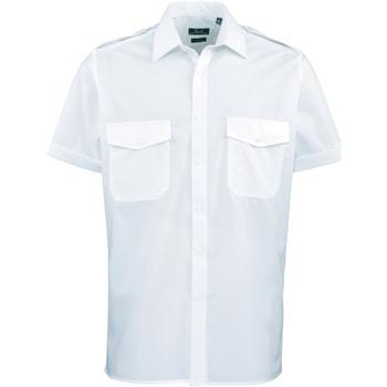 Vêtements Homme Chemises manches courtes Premier PR212 Bleu clair