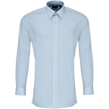 Vêtements Homme Chemises manches longues Premier PR204 Bleu clair
