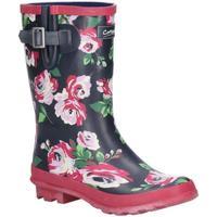 Chaussures Femme Bottes de pluie Cotswold  Noir/ rose