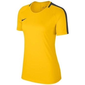 Vêtements Femme T-shirts manches courtes Nike Dry Academy 18 Jaune