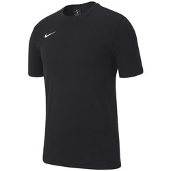 Vêtements Garçon T-shirts manches courtes Nike JR Team Club 19 Noir