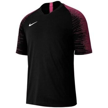 Vêtements Garçon T-shirts manches courtes Nike JR Dri Fit Strike Top Tshirt Noir