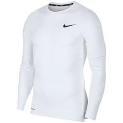 Vêtements Homme T-shirts manches longues Nike Pro Top Compression Crew Blanc