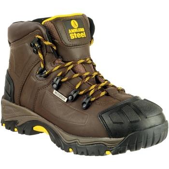 Chaussures Homme Chaussures de sécurité Amblers 39 S3 WP CRAZYHORSE Marron