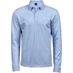 Vêtements Homme Polos manches longues Tee Jays Stretch Bleu clair