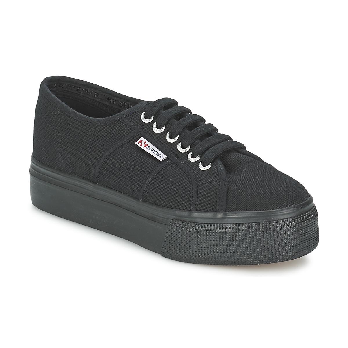 superga 2791 cotew linea noir livraison gratuite avec chaussures baskets. Black Bedroom Furniture Sets. Home Design Ideas