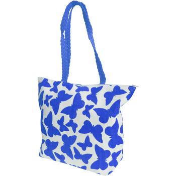 Sacs Femme Cabas / Sacs shopping Floso  Blanc/Bleu
