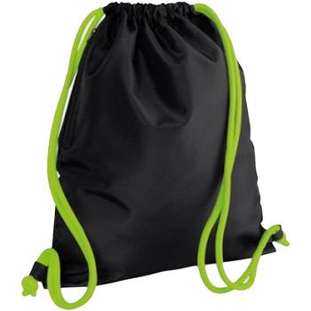 Sacs Enfant Sacs de sport Bagbase BG110 Noir/Vert citron