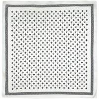 Accessoires textile Femme Echarpes / Etoles / Foulards Allée Du Foulard Carré de soie Piccolo Roy - Couleur - Bl Blanc