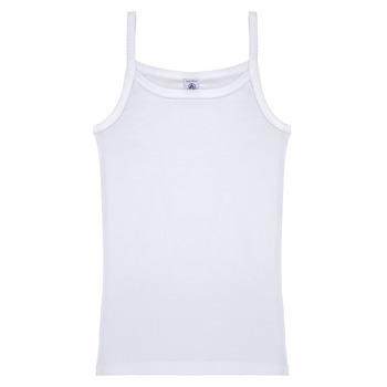 Vêtements Fille Débardeurs / T-shirts sans manche Petit Bateau FILLA Blanc