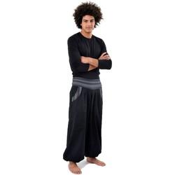 Vêtements Homme Pantalons fluides / Sarouels Fantazia Sarouel epais Ilona Noir