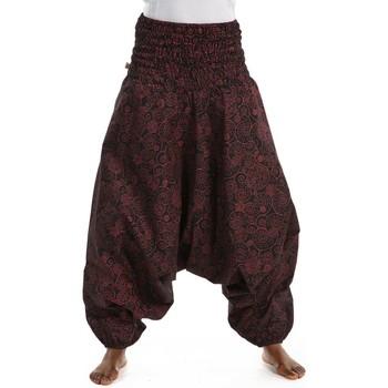 Vêtements Femme Calvin Klein Jeans Fantazia Pantalon sarwel mixte smocke ethnique chic Noir