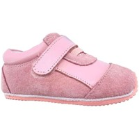 Chaussures Fille Baskets basses Freycoo Chaussures premiers pas cuir souple baskets Nubuck Girly Rose