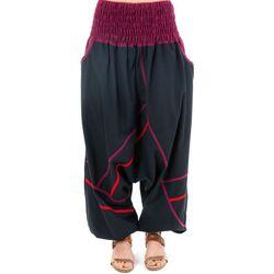 Vêtements Femme Pantalons fluides / Sarouels Fantazia Sarouel elastique grande taille femme homme Raksi Noir