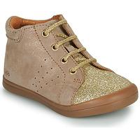 Chaussures Fille Boots GBB NAHIA Beige / Doré