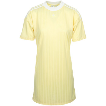 Vêtements Femme Robes courtes adidas Originals Trefoil Dress jaune