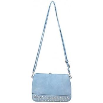 Sacs Femme Sacs Bandoulière Fuchsia Mini sac pochette plate  déco strass bleu clair Multicolor