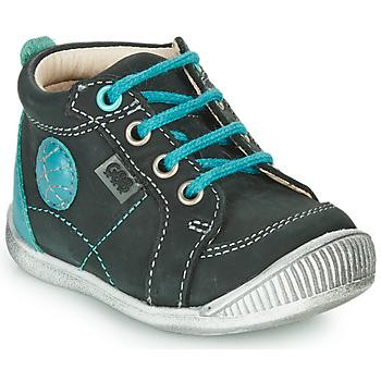Chaussures Garçon Boots GBB OLAN Noir / Bleu