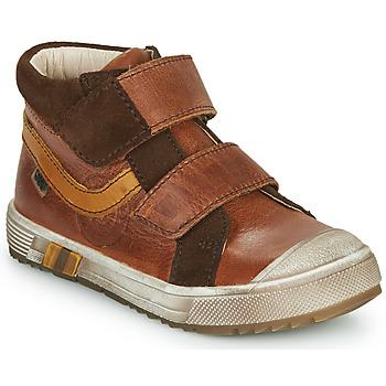 Chaussures Garçon Baskets montantes GBB OMALLO Marron
