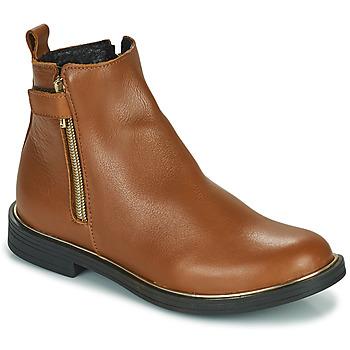 Chaussures Fille Boots GBB XIANA Marron