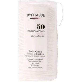 Beauté Femme Accessoires visages Byphasse Disques 100% coton fibres naturelles x50 Ovales Autres
