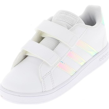 Chaussures Fille Baskets basses adidas Originals Grand court i baby Blanc