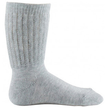 Accessoires Enfant Chaussettes Kindy Mi-chaussettes non comprimantes MADE IN FRANCE Gris clair