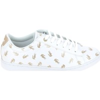 Chaussures Enfant Baskets basses Lacoste Carnaby Evo C Blanc Or Blanc