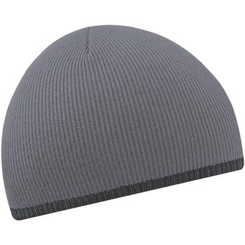Accessoires textile Bonnets Beechfield Knitted Graphite/Noir
