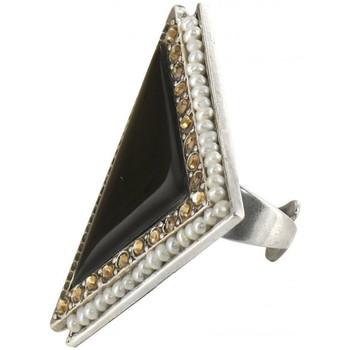 Montres & Bijoux Femme Bijoux Franck Herval Bague triangulaire XL  collection 'Charleston' 19--60411 Noir