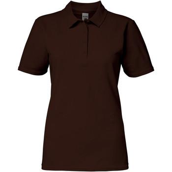 Vêtements Femme Polos manches courtes Gildan 64800L Marron