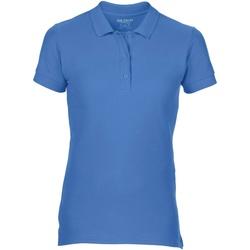 Vêtements Femme Polos manches courtes Gildan Pique Bleu