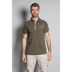 Vêtements Homme Polos manches courtes Deeluxe Polo IKADO Olive