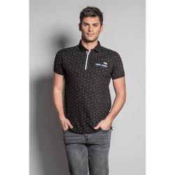 Vêtements Homme Polos manches courtes Deeluxe Polo IKADO Black