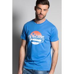 Vêtements Homme T-shirts manches courtes Deeluxe T-Shirt TRIBU Blue
