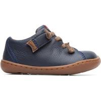 Chaussures Garçon Baskets basses Camper Baskets à lacets cuir Peu Cami bleu