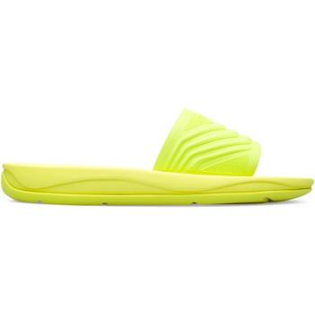 Chaussures Femme Claquettes Camper Match K201002-002 Sandales Femme jaune