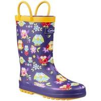 Chaussures Garçon Bottes de pluie Cotswold Puddle Voilet / jaune