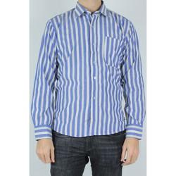 Vêtements Homme Chemises manches longues Kebello Chemise col boutons à rayures H Bleu Bleu