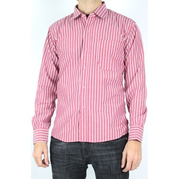 Vêtements Homme Chemises manches longues Kebello Chemise à rayures Taille : H Rouge M Rouge