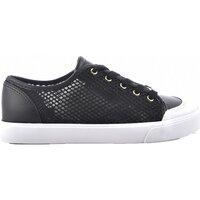 Chaussures Femme Baskets basses Guess Sneakers En Résille Pailletée  - les NOIRS