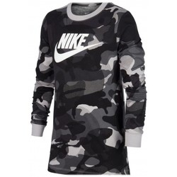Vêtements T-shirts manches longues Nike B Nsw Tee Aop Camo couleurs multiples