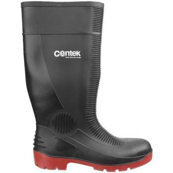 Chaussures Bottes de pluie Centek  Noir/Rouge