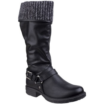 Chaussures Femme Bottes ville Divaz  Noir
